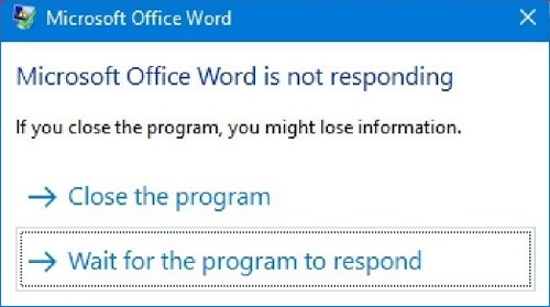 Microsoft Word Not Responding, How to Fix and Save Document?