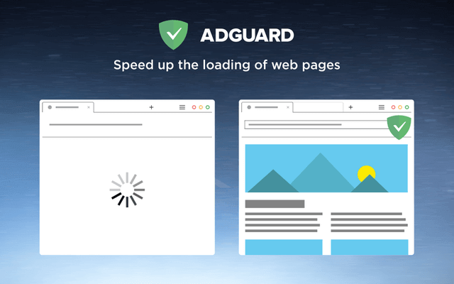 adguard speed up browser